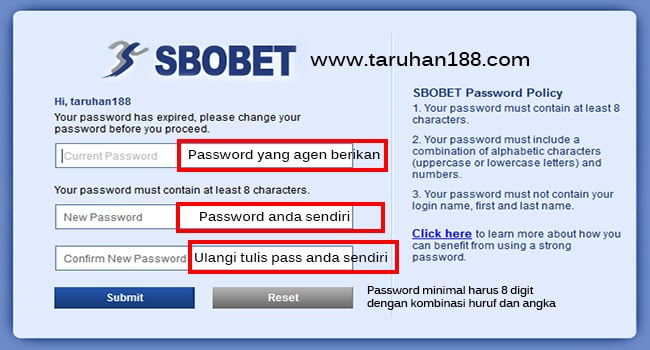 cara ubah password